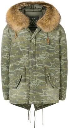 Mr & Mrs Italy camouflage print parka coat