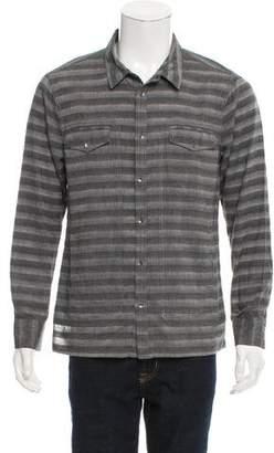 Nicholas K Striped Button-Up Shirt