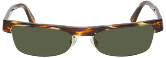 Alexandre Vauthier Alain Mikli Paris Tortoiseshell and Green Edition Ketti Sunglasses