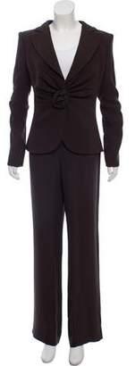 Armani Collezioni Mid-Rise Silk Pantsuit w/ Tags