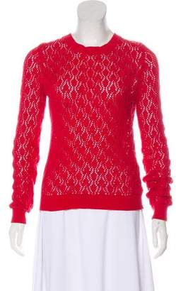 Opening Ceremony Open Knit Crew Neck Sweater