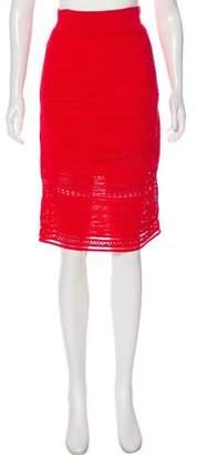 Ohne Titel Crocheted Knee Length Skirt