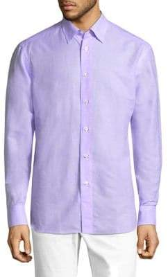 Brioni Classic Regular-Fit Cotton Button-Down Shirt