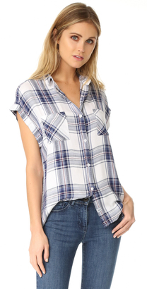 RAILS Britt Button Down Shirt $132 thestylecure.com