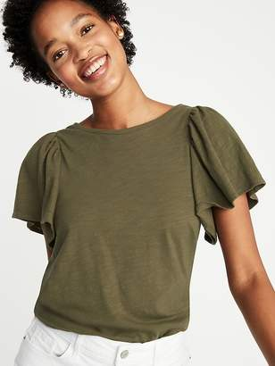Old Navy Relaxed Ruffle-Sleeve Top for Women