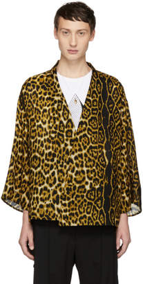 SASQUATCHfabrix. Brown Leopard Kimono Cardigan