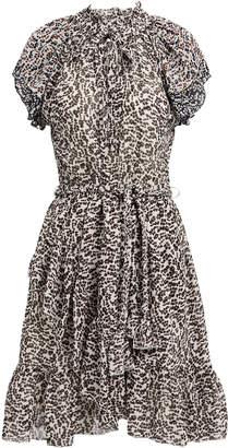 Apiece Apart Sabina Silk Georgette Printed Dress