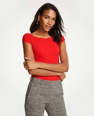 Ann Taylor Petite Boatneck Cap Sleeve Sweater