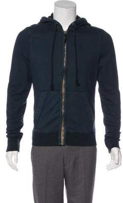Burberry Knit Zip-Up Hoodie