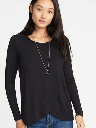 Old Navy Maternity Wrap-Front Luxe Nursing Tee