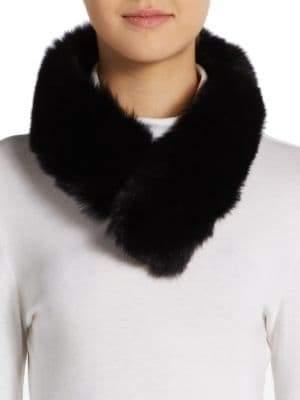 Saks Fifth Avenue Fox Fur Convertible Collar