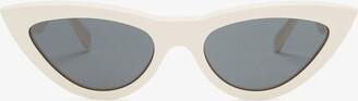 Celine Cat Eye Acetate Sunglasses - Womens - White