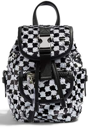 8da56bac9 Topshop NYC Sequin Check Backpack