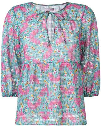Kristina Ti floral printed blouse