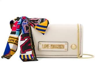 Love Moschino logo plaque shoulder bag