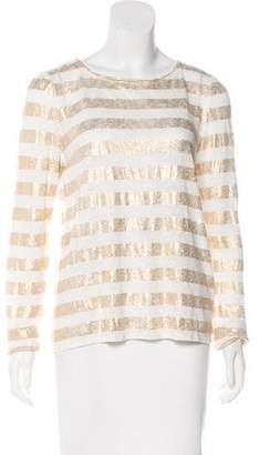 Alice + Olivia Striped Linen Top