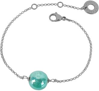 Antica Murrina Perleadi Turquoise Murano Glass Bead Chain Bracelet $45 thestylecure.com