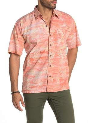 Sword Fish Pete Huntington Swordfish Print Short Sleeve Hawaiian Shirt