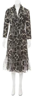 Tracy Reese Chiffon-Trimmed Printed Coat