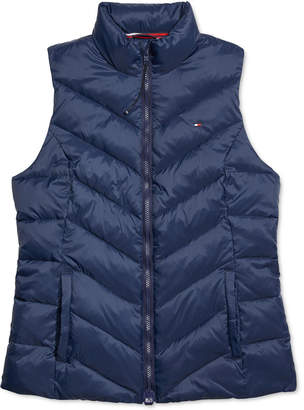 Tommy Hilfiger Adaptive Women Puffer Vest With Magnetic Zipper