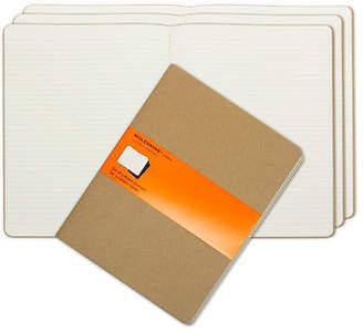 Moleskine NEW Cahier Extra Large Ruled Journal Set 3pce Kraft