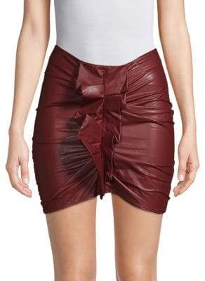 Etoile Isabel Marant Zephira Faux Leather Mini Skirt