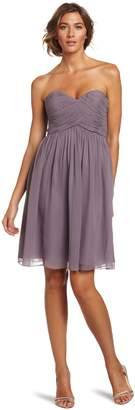 Donna Morgan Women's Strapless Sweetheart Chiffon Dress, Grey Ridge