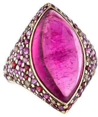 John Hardy Tourmaline & Gemstone Ring