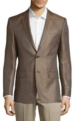 Versace Front-Button Silk Sport Coat