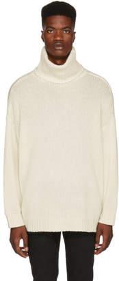 R 13 White Cashmere Turtleneck