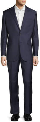 Saks Fifth Avenue Made In Italy Windowpane Wool Suit