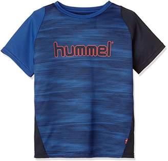 Hummel (ヒュンメル) - (ヒュンメル)hummel サッカーウェア ドライTシャツ HJY2076 [ボーイズ] HJY2076 7063 ネイビー×ロイヤルブルー (7063) 160