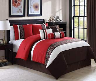Elight Home Amberlyn Embroidery 7 Piece Comforter Set King Size