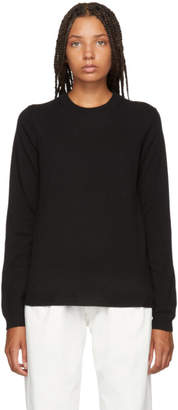 Maison Margiela Black Elbow Patch Sweater