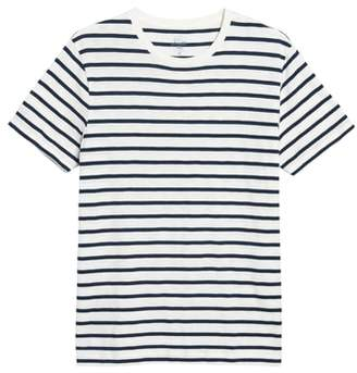 J.Crew J. CREW Deck Stripe Slub Cotton T-Shirt