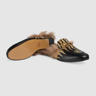 Gucci Princetown slipper with flames