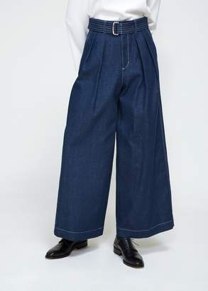 TOMORROWLAND Brush Denim Belted Wide Pants