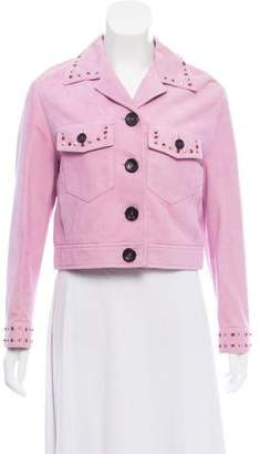 Miu Miu Embellished Suede Jacket w/ Tags