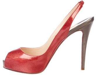 Christian Louboutin N°Prive Slingback Pumps