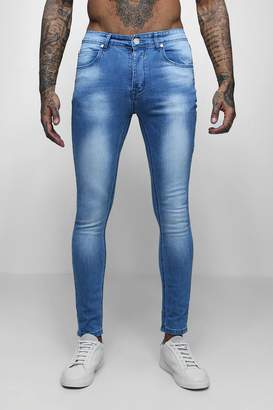 boohoo Super Skinny Fit Washed Denim Jeans
