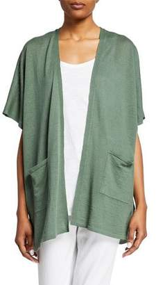 Eileen Fisher Organic Linen/Cotton Short-Sleeve Cardigan