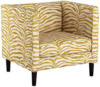 One Kings Lane Huey Club Chair - Ochre Zebra