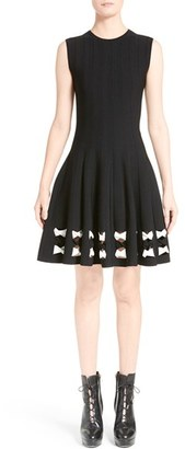 Women's Alexander Mcqueen Twisted Cutout Knit Dress $1,695 thestylecure.com