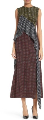 Women's Diane Von Furstenberg Ruffled Front Silk Midi Dress $498 thestylecure.com
