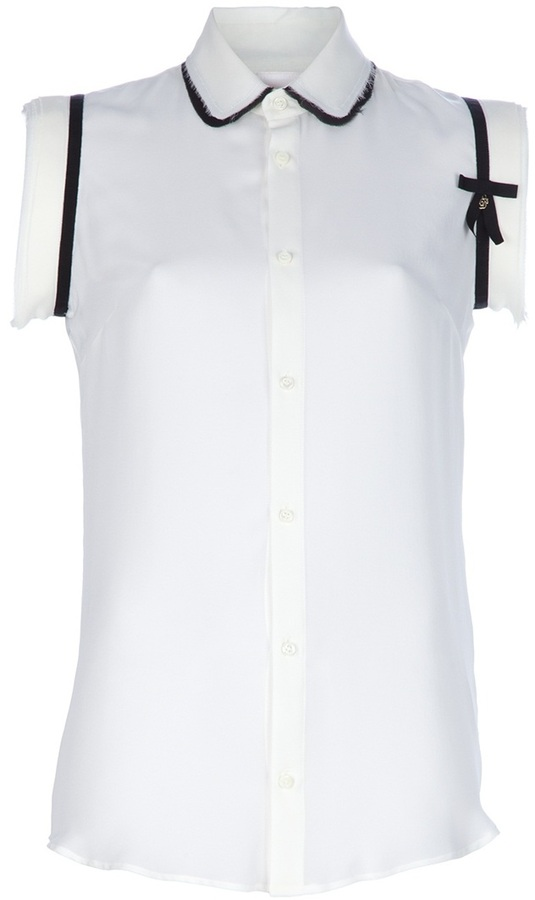 Dsquared2 Sleeveless georgette shirt