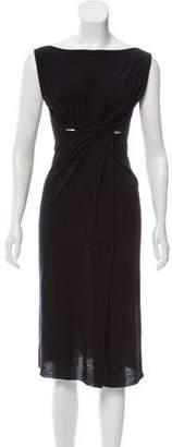 Rick Owens Wool-Blend Sleeveless Dress