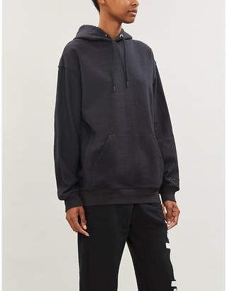 Reebok x Victoria Beckham Relaxed-fit brand-embroidered cotton-jersey hoody