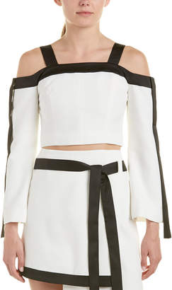 C/Meo Collective Outgrown Cold-Shoulder Crop Top