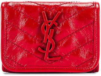 Saint Laurent Niki Credit Card Wallet in Red | FWRD