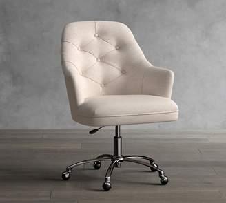 Pottery Barn Everett Upholstered Swivel Desk Chair